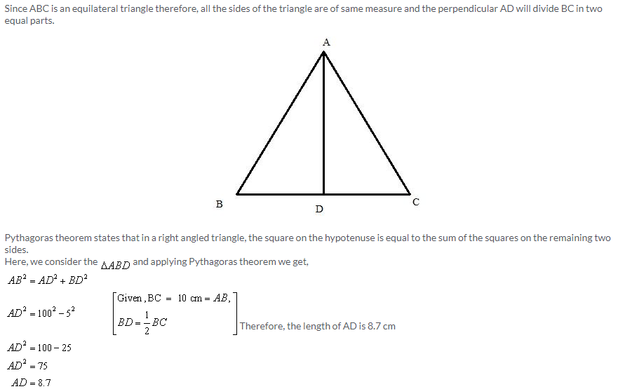 Selina Concise Mathematics Class 9 ICSE Solutions Pythagoras Theorem [Proof and Simple Applications with Converse image - 5