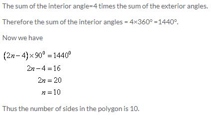 Selina Concise Mathematics Class 9 ICSE Solutions Rectilinear Figures [Quadrilaterals: Parallelogram, Rectangle, Rhombus, Square and Trapezium] - A Plus Topper