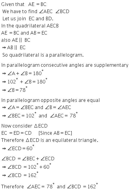 Selina Concise Mathematics Class 9 ICSE Solutions Rectilinear Figures [Quadrilaterals Parallelogram, Rectangle, Rhombus, Square and Trapezium] image - 18