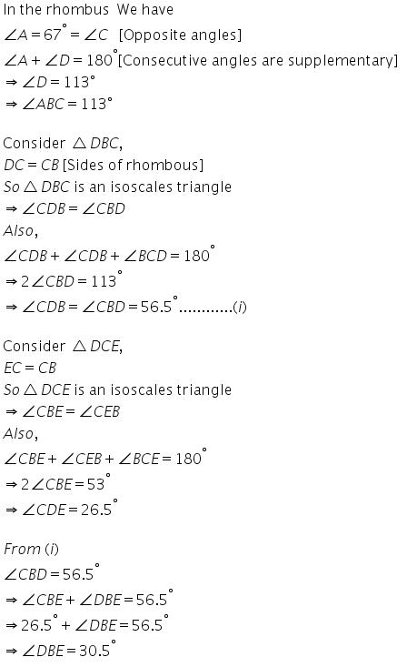 Selina Concise Mathematics Class 9 ICSE Solutions Rectilinear Figures [Quadrilaterals Parallelogram, Rectangle, Rhombus, Square and Trapezium] image - 24