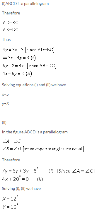 Selina Concise Mathematics Class 9 ICSE Solutions Rectilinear Figures [Quadrilaterals Parallelogram, Rectangle, Rhombus, Square and Trapezium] image - 25