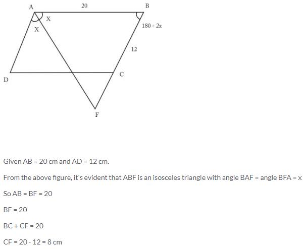 Selina Concise Mathematics Class 9 ICSE Solutions Rectilinear Figures [Quadrilaterals Parallelogram, Rectangle, Rhombus, Square and Trapezium] image - 27