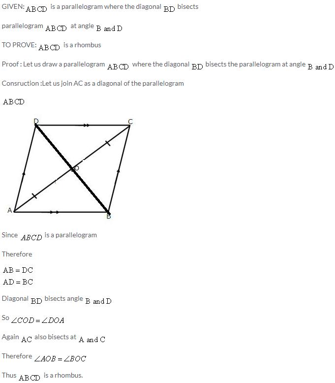 Selina Concise Mathematics Class 9 ICSE Solutions Rectilinear Figures [Quadrilaterals Parallelogram, Rectangle, Rhombus, Square and Trapezium] image - 29