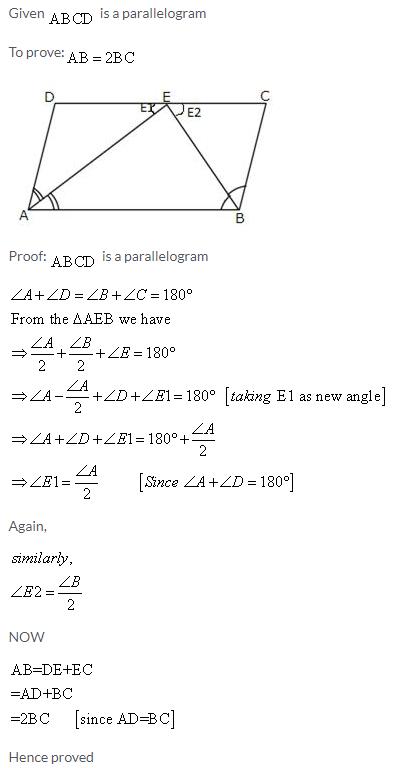 Selina Concise Mathematics Class 9 ICSE Solutions Rectilinear Figures [Quadrilaterals Parallelogram, Rectangle, Rhombus, Square and Trapezium] image - 32