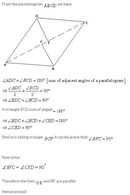 Selina Concise Mathematics Class 9 ICSE Solutions Rectilinear Figures [Quadrilaterals Parallelogram, Rectangle, Rhombus, Square and Trapezium] image - 33