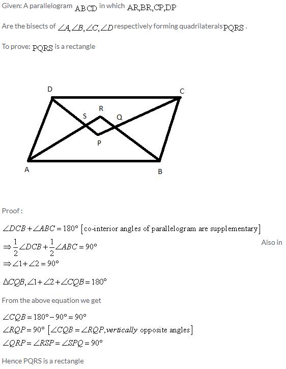 Selina Concise Mathematics Class 9 ICSE Solutions Rectilinear Figures [Quadrilaterals Parallelogram, Rectangle, Rhombus, Square and Trapezium] image - 36