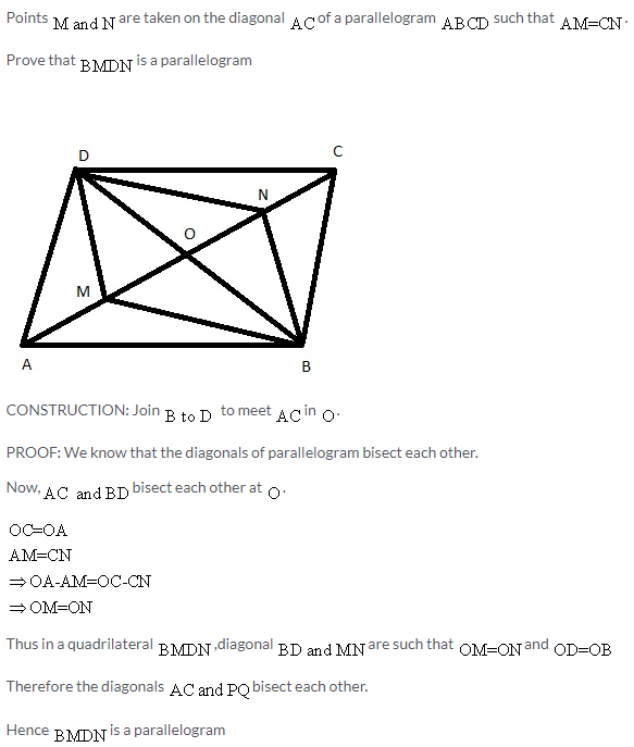 Selina Concise Mathematics Class 9 ICSE Solutions Rectilinear Figures [Quadrilaterals Parallelogram, Rectangle, Rhombus, Square and Trapezium] image - 39
