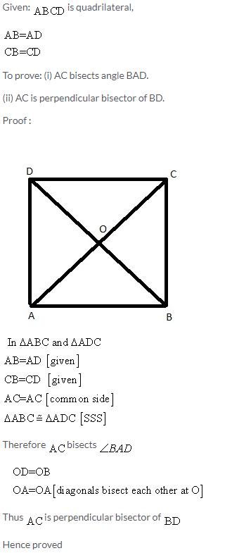 Selina Concise Mathematics Class 9 ICSE Solutions Rectilinear Figures [Quadrilaterals Parallelogram, Rectangle, Rhombus, Square and Trapezium] image - 42
