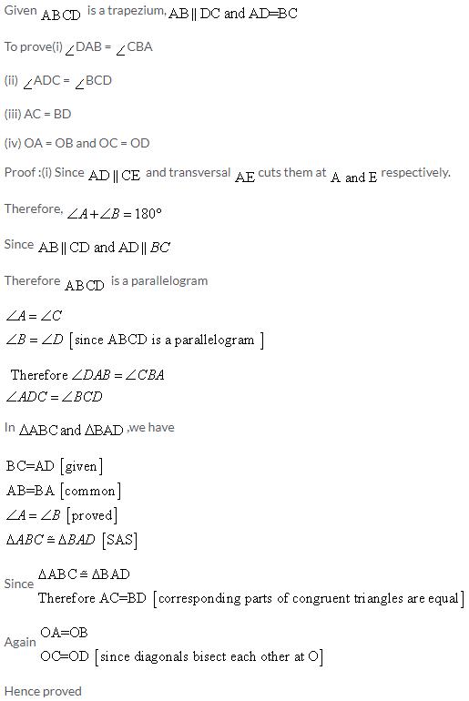 Selina Concise Mathematics Class 9 ICSE Solutions Rectilinear Figures [Quadrilaterals Parallelogram, Rectangle, Rhombus, Square and Trapezium] image - 43