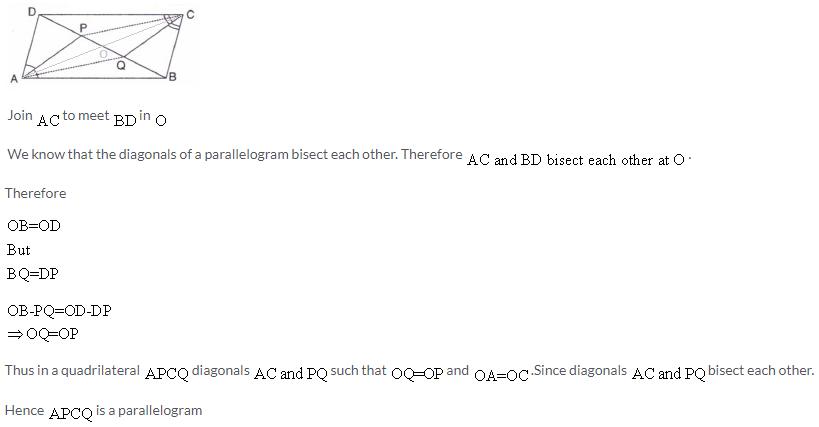 Selina Concise Mathematics Class 9 ICSE Solutions Rectilinear Figures [Quadrilaterals Parallelogram, Rectangle, Rhombus, Square and Trapezium] image - 44
