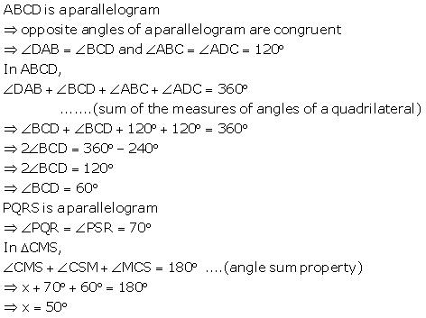 Selina Concise Mathematics Class 9 ICSE Solutions Rectilinear Figures [Quadrilaterals Parallelogram, Rectangle, Rhombus, Square and Trapezium] image - 47