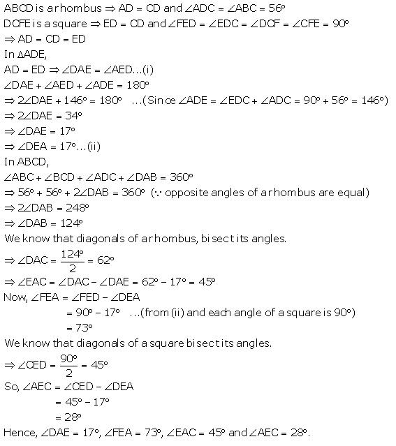 Selina Concise Mathematics Class 9 ICSE Solutions Rectilinear Figures [Quadrilaterals Parallelogram, Rectangle, Rhombus, Square and Trapezium] image - 48