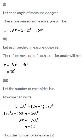 Selina Concise Mathematics Class 9 ICSE Solutions Rectilinear Figures [Quadrilaterals Parallelogram, Rectangle, Rhombus, Square and Trapezium] image - 8