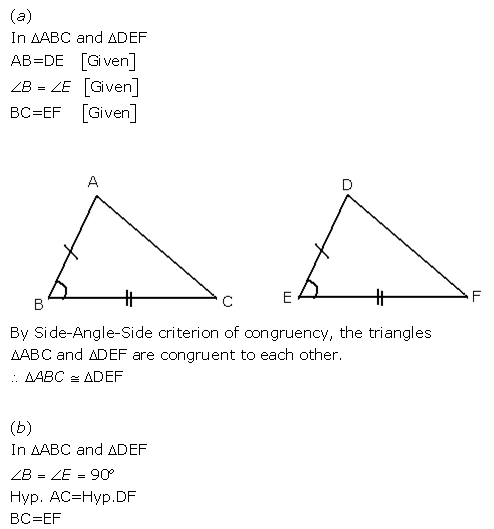 Selina Concise Mathematics Class 9 ICSE Solutions Triangles [Congruency in Triangles] 1
