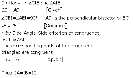 Selina Concise Mathematics Class 9 ICSE Solutions Triangles [Congruency in Triangles] 10