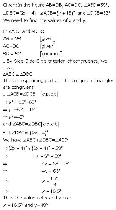 Selina Concise Mathematics Class 9 ICSE Solutions Triangles [Congruency in Triangles] 14