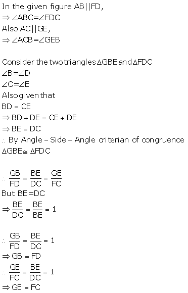 Selina Concise Mathematics Class 9 ICSE Solutions Triangles [Congruency in Triangles] 15