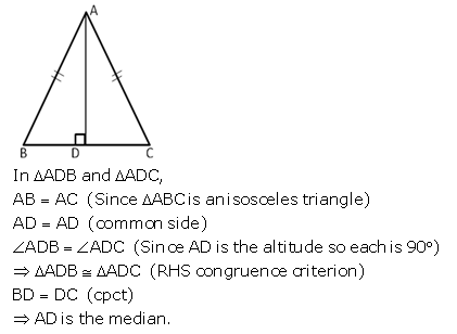 Selina Concise Mathematics Class 9 ICSE Solutions Triangles [Congruency in Triangles] 16
