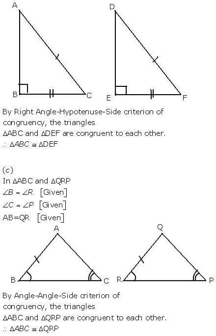 Selina Concise Mathematics Class 9 ICSE Solutions Triangles [Congruency in Triangles] 2