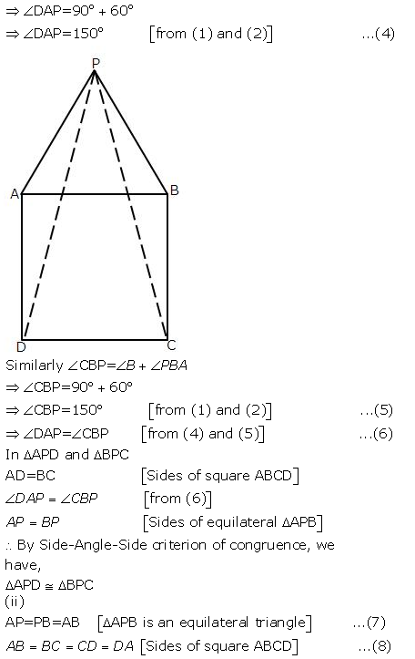 Selina Concise Mathematics Class 9 ICSE Solutions Triangles [Congruency in Triangles] 27