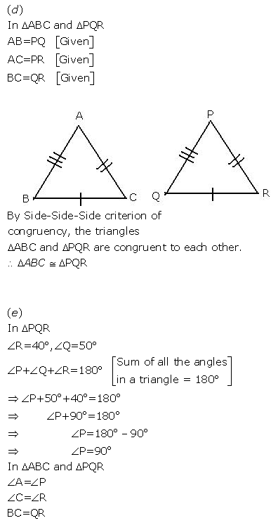 Selina Concise Mathematics Class 9 ICSE Solutions Triangles [Congruency in Triangles] 3