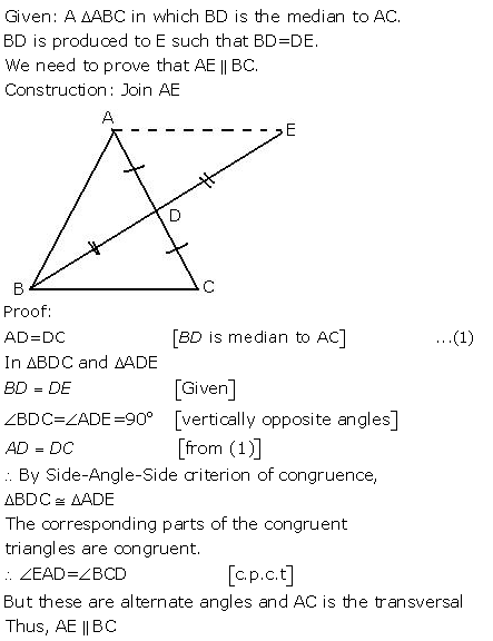 Selina Concise Mathematics Class 9 ICSE Solutions Triangles [Congruency in Triangles] 31