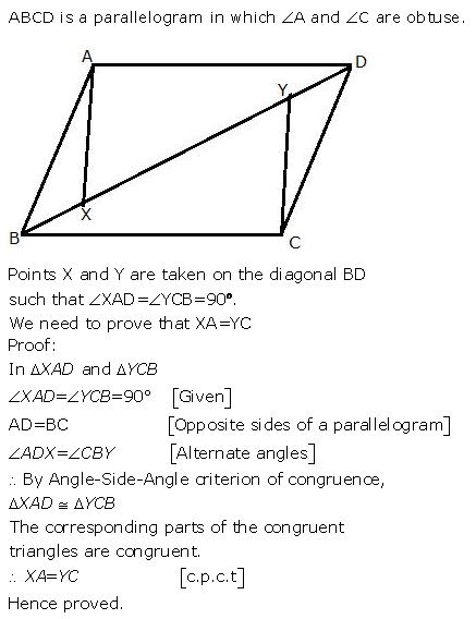 Selina Concise Mathematics Class 9 ICSE Solutions Triangles [Congruency in Triangles] 34