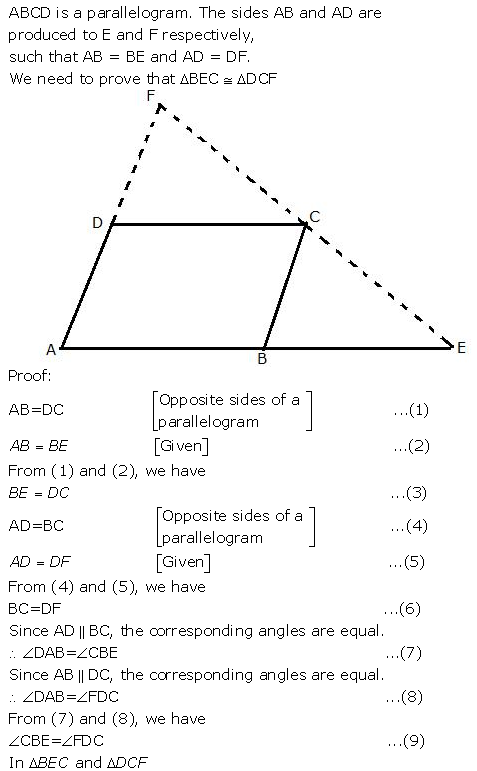 Selina Concise Mathematics Class 9 ICSE Solutions Triangles [Congruency in Triangles] 35