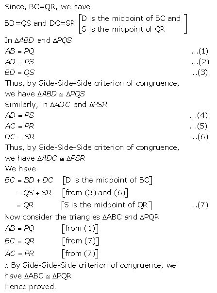 Selina Concise Mathematics Class 9 ICSE Solutions Triangles [Congruency in Triangles] 37