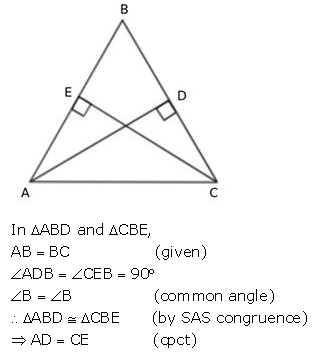 Selina Concise Mathematics Class 9 ICSE Solutions Triangles [Congruency in Triangles] 42
