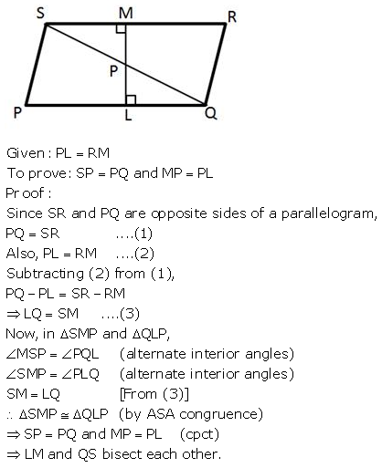 Selina Concise Mathematics Class 9 ICSE Solutions Triangles [Congruency in Triangles] 43