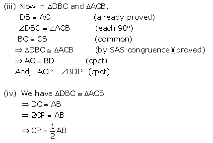 Selina Concise Mathematics Class 9 ICSE Solutions Triangles [Congruency in Triangles] 48