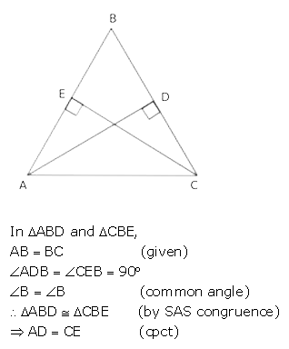 Selina Concise Mathematics Class 9 ICSE Solutions Triangles [Congruency in Triangles] 49