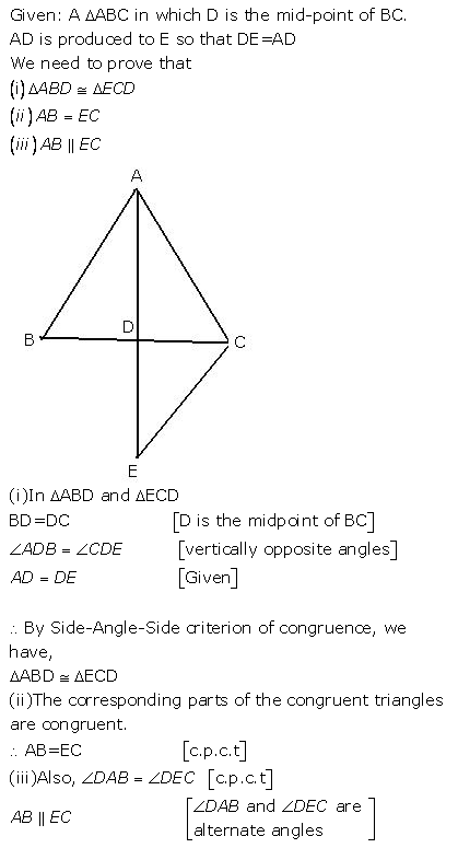 Selina Concise Mathematics Class 9 ICSE Solutions Triangles [Congruency in Triangles] 6