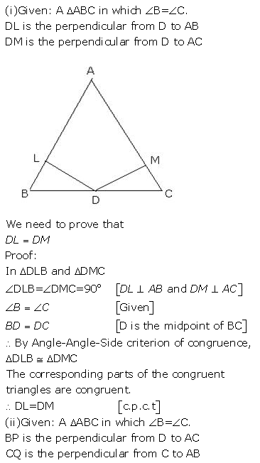 Selina Concise Mathematics Class 9 ICSE Solutions Triangles [Congruency in Triangles] 7
