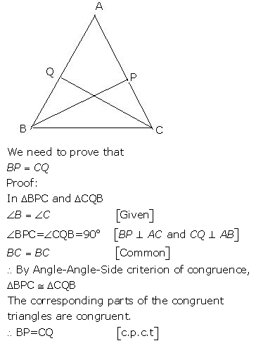 Selina Concise Mathematics Class 9 ICSE Solutions Triangles [Congruency in Triangles] 8