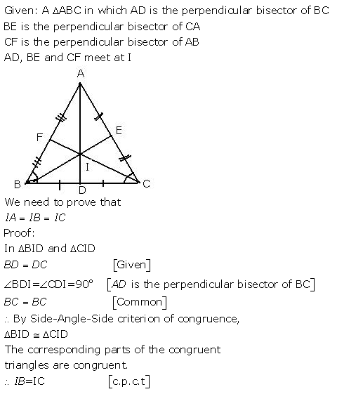 Selina Concise Mathematics Class 9 ICSE Solutions Triangles [Congruency in Triangles] 9