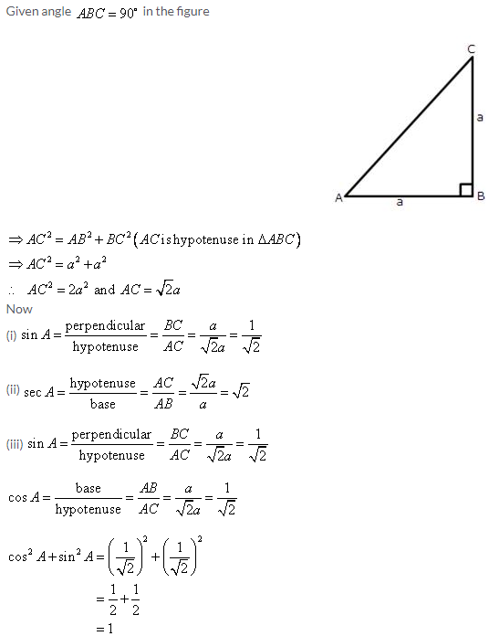 Selina Concise Mathematics Class 9 ICSE Solutions Trigonometrical Ratios image - 10