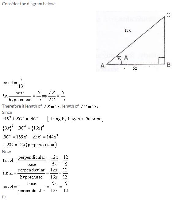 Selina Concise Mathematics Class 9 ICSE Solutions Trigonometrical Ratios image - 11
