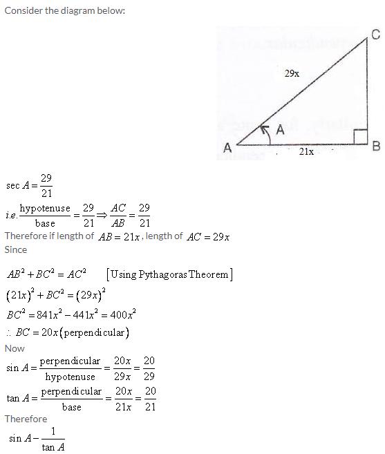 Selina Concise Mathematics Class 9 ICSE Solutions Trigonometrical Ratios image - 13