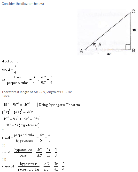 Selina Concise Mathematics Class 9 ICSE Solutions Trigonometrical Ratios image - 17