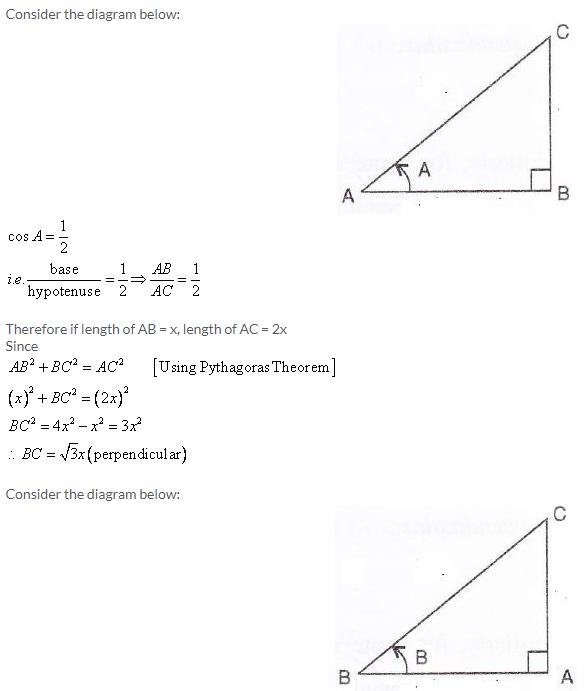 Selina Concise Mathematics Class 9 ICSE Solutions Trigonometrical Ratios image - 24
