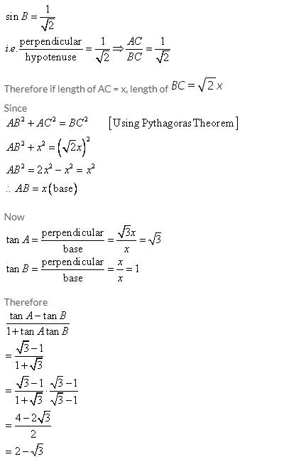 Selina Concise Mathematics Class 9 ICSE Solutions Trigonometrical Ratios image - 25