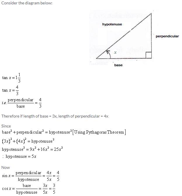 Selina Concise Mathematics Class 9 ICSE Solutions Trigonometrical Ratios image - 28