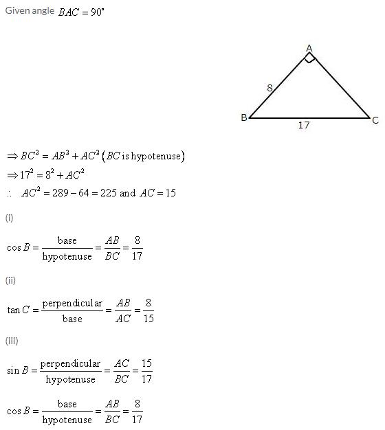 Selina Concise Mathematics Class 9 ICSE Solutions Trigonometrical Ratios image - 3
