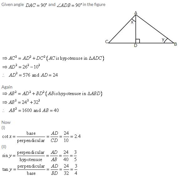 Selina Concise Mathematics Class 9 ICSE Solutions Trigonometrical Ratios image - 35