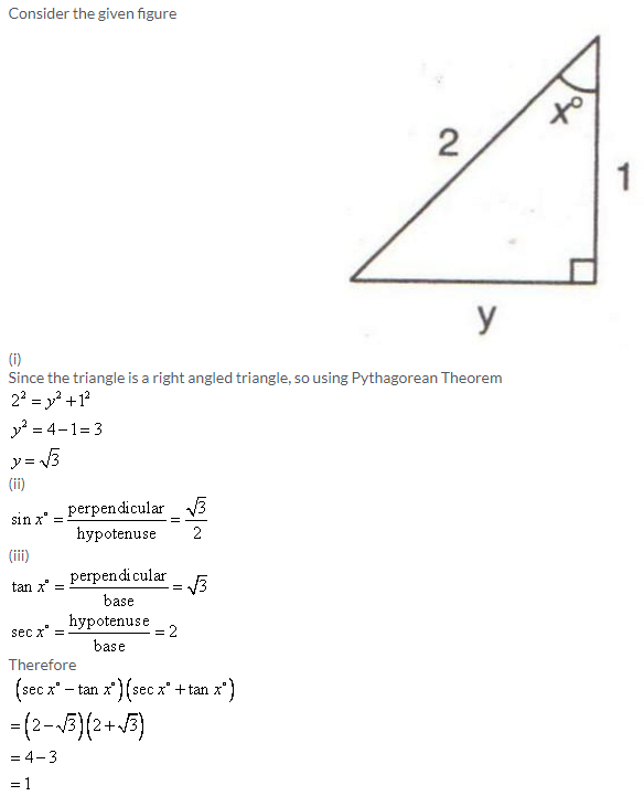Selina Concise Mathematics Class 9 ICSE Solutions Trigonometrical Ratios image - 37