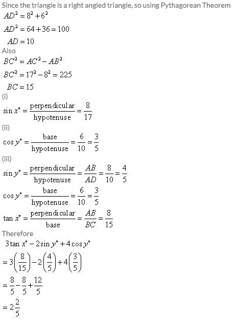 Selina Concise Mathematics Class 9 ICSE Solutions Trigonometrical Ratios image - 39