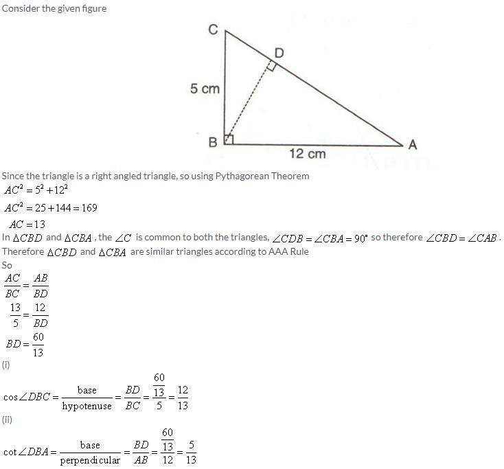 Selina Concise Mathematics Class 9 ICSE Solutions Trigonometrical Ratios image - 40