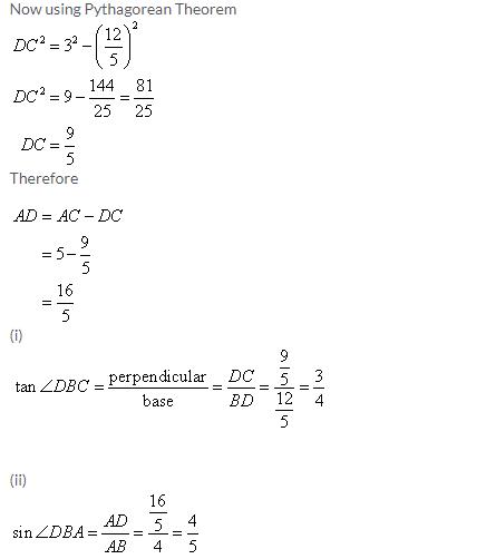 Selina Concise Mathematics Class 9 ICSE Solutions Trigonometrical Ratios image - 42